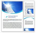 Religious/Spiritual: Heaven Ladder Word Template #07954