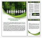 Telecommunication: 워드 템플릿 - 연결된 세계 #07958
