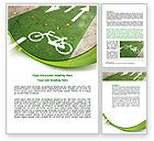 Careers/Industry: Bicycle Zone Word Template #07961