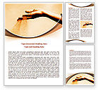 Religious/Spiritual: Sand Through Fingers Word Template #07966
