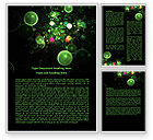 Abstract/Textures: Green Bubbles Abstract Word Template #07969