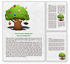 Education & Training: Education Tree Word Template #07970