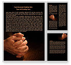 Religious/Spiritual: Clenched Hands Word Template #07977