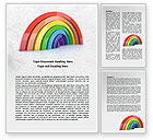 Education & Training: Rainbow In 3D Word Template #07979