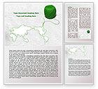 Global: Tangle Of Green Yarn Around The World Word Template #07981