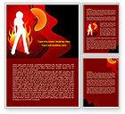 Art & Entertainment: Devil Girl Word Template #08021