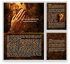 Religious/Spiritual: Prayer Hands Word Template #08023