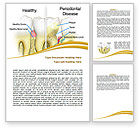 Medical: Periodontal Tooth Word Template #08024