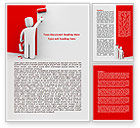 Careers/Industry: Paint It Red Word Template #08026