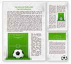 Sports: European Football Field Word Template #08032