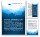 Abstract/Textures: Blue Clouds Word Template #08058