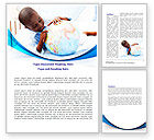 Education & Training: School Study In Africa Word Template #08063
