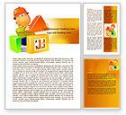 Construction: Plantilla de Word - construyendo una casa #08070