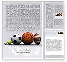 Sports: Sport Balls Word Template #08071