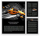 Sports: Racer Word Template #08084