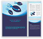 Business: Fish Word Template #08087