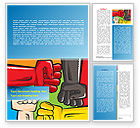 Religious/Spiritual: Fists Together Word Template #08090
