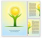 Religious/Spiritual: Sun Light Word Template #08094