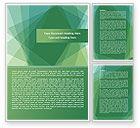 Abstract/Textures: Green Vellen Papier Word Template #08099