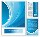 Abstract/Textures: Ice Blue Theme Word Template #08107