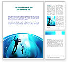 Sports: Diving Lessons Word Template #08111