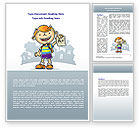 Education & Training: Excellent Pupil Word Template #08113