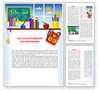 Education & Training: Primary Schooling Word Template #08115