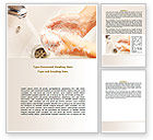 Medical: Hand Washing Word Template #08126