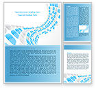 Abstract/Textures: Blue Dots Word Template #08130