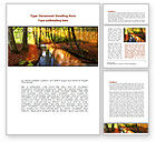Nature & Environment: Autumn Forest Word Template #08132