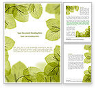 Nature & Environment: Lucid Leaves Word Template #08148