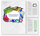 Education & Training: Stationery Word Template #08150