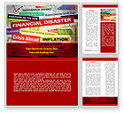 Financial/Accounting: Financial Disaster Word Template #08154