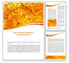 Nature & Environment: Yellow Tree Word Template #08157