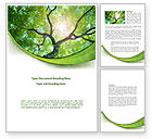 Nature & Environment: Tree Top Word Template #08163