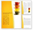 Careers/Industry: Cups Word Template #08173