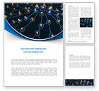Abstract/Textures: Network Community Word Template #08199