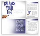 Education & Training: Balanced Life Word Template #08210