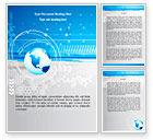 Global: Globe Theme Word Template #08213