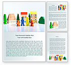 Religious/Spiritual: Toy Family Word Template #08220
