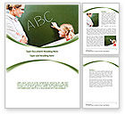Education & Training: Writing the Alphabet Word Template #08225