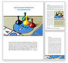 Business Concepts: New Board Game Word Template #08226