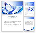 Nature & Environment: Plastic Bottle Word Template #08237