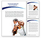 People: Happy Latino Family Word Template #08240