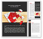 Financial/Accounting: Modello Word - Puzzle casa #08245