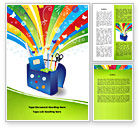 Education & Training: School Stationery Word Template #08254