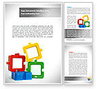 Business: Square Puzzles Word Template #08261