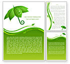 Nature & Environment: Leaf Umbrella Word Template #08263