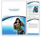 Careers/Industry: Stylish Girl Word Template #08265