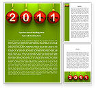 Holiday/Special Occasion: Year of 2011 Word Template #08296